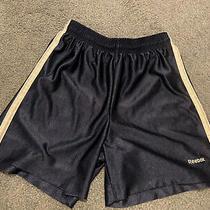 Girls Blue Long Athletic Gym Fitness Shorts Size Large 10/12 Reebok Vguc Photo
