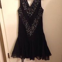 Girls Blush by Us Angels Formal Dress Black Sequin 7 Dance Fancy Chevron Photo