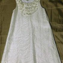 Girls Blush by Us Angels White Ruffle Neck Dress Size 12 Photo