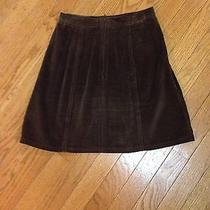 Girls Brown Corduroy a-Line Skirt Bottom Size 1/2 Jean by Express Short Skirt Photo