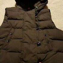 Girls Brown Fall/winter Outwear Vest. Hooded Size Small by the Gap. Euc  Photo
