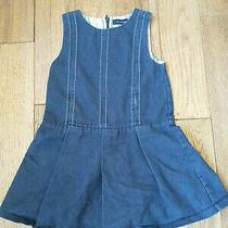 Girls Burberry Dress Jumper Navy Novacheck Size 2 Photo