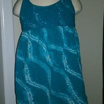 Girls Calypso St Barth Swim Coverup Dress Aqua Teal Tiedye Small 6 Photo