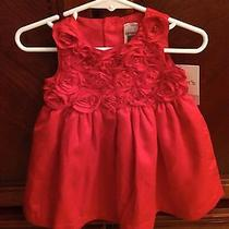 Girls Carter's 6 Month Red Dress/christmas Dress Photo