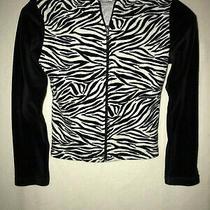 Girls Christie Brooks Zebra Print Jacket With Hoodie Size Medium Photo