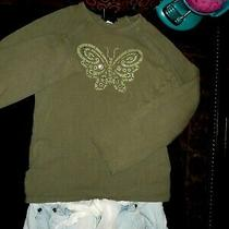Girls Clothes Size 7/8 Green/white Skirt/long Sleeve Gap/guess Top Outfit Lot Photo