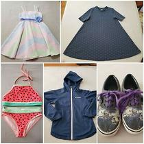 Girls Clothing Lot Size 7-8 Columbia Jacket Sz Small Star Wars Vans Sz 3  Photo