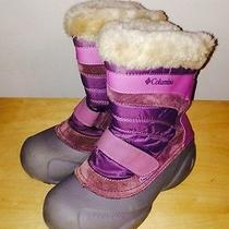 Girls Columbia Snow Day Winter Snow Boots Size 3 Photo