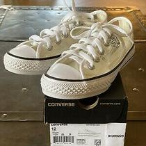 Girls Converse Clear White Sneakers Size 12 Us Very Rare Nwb Photo