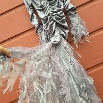 Girls Costume Dark Angel Grey S 6 Dress Enchanting Witch Fantasy Gown Lace Frock Photo