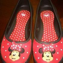 Girls Crocs Minnie Mouse Black Red 13 Photo