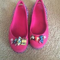 Girls Crocs Size 1 With Jibbets Photo