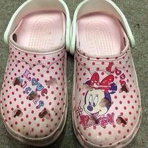 Girls Crocs Size 3 4 Pink Mickey Mouse Cayman Pink Mini Mouse Photo