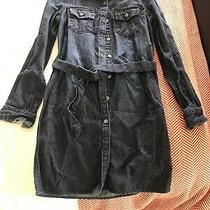 Girls Dark Denim Blue Jean Tunic Dress Shirt by Gap Kids Size M Regular Photo