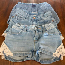Girls Denim Jean Shorts Lot of 3 Size 4 Cat & Jack Old Navy Childrens Place Photo