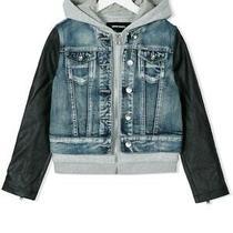 Girls Diesel Denim Jacket Size 7 (Eeuc) New Bonus Sweater & Shirt Included. Photo