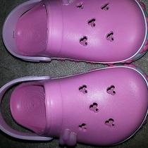 Girls Disney Pink Crocs Photo