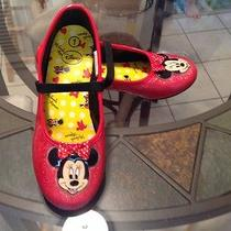Girls Disney Size 1 Disney Minnie Mouse Red Sparkle Shoes Photo
