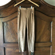Girls Fall Brown Tan Faux Suede Pull on Skinny Pants Size 13 14 Photo