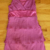 Girls Fancy Pink Party Dance Dress Size 7 Photo
