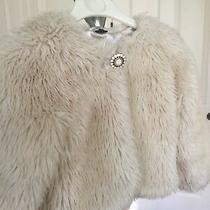 Girls Faux Fur  Off White Dress Jacket/coat Gap  Size L / Xl Youth (4-7 Years) Photo