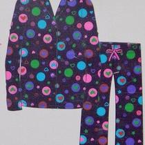 Girls Flannel Pajamas Ps Aeropostale 2-Piece Heart Kids Ps4u Blue Pink Size 4 Photo