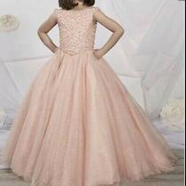 Girls Formal Pageant Dressfull Lengthblushlight Pink Multi Size W/corset Back Photo
