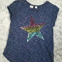 Girls Gap Flippies Sequin Star Shirt Medium Size 8 Photo