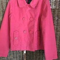 Girls Gap Kids Pink Double Breasted Peacoat Coat Jacket Size Medium Photo