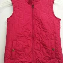 Girls Gap Kids Quilted Vest Size Xl Lined Hearts Pink Photo