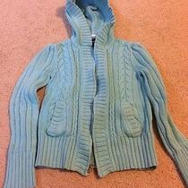Girls Gap Kids Teal Hooded Sweater Size Large (10) Photo