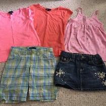 Girls Gap Lot 5 Items Size 6 7 Summer Casual Tops Shorts Jean Skirt Photo