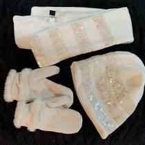 Girls Gapkids Ivory Scarf Hat and Mittens Photo