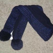 Girls Gapkids Navy Blue Sparkle Scarf- One Size- New Photo