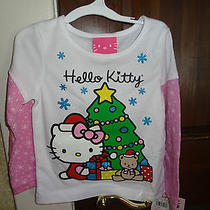 Girls Glittery Hello Kitty Christmas Shirt Size 24 M New Photo