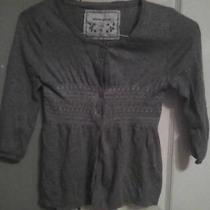 Girls Gray Cardigan Sweater Photo