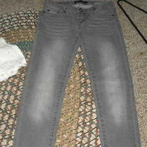Girls Grey Levi Denim Leggings and Ps Sz 12 White Eyelet Cami Photo
