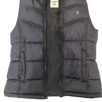 Girls Grey Old Navy Puffer Vest Large 10 /12 Photo