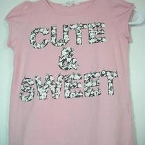 Girls H & M Pink Short Sleeve Rabbits Blouse Size 6 Photo