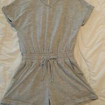 Girls Habitual Girl Heather Grey Romper Size 7 / 8 Euc Photo