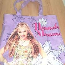 Girls Hanna Montana Disney Fabric Tote Bag Photo