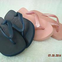 Girls Havaianas Pink Blue Flip Flops 2 Pair Sz 5   Eur 37   Euc Photo
