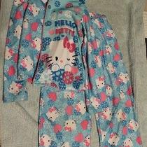 Girls Hello Kitty 2 Piece Pajama Set Shirt and Pants Size 6/6x Blue Pink Photo
