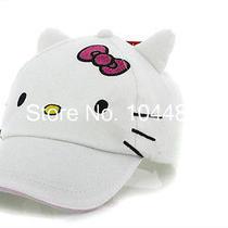 Girls Hello Kitty Baseball Snapback Cap With Ears Photo