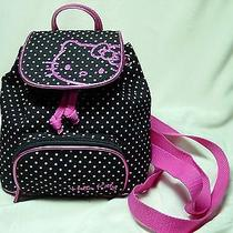 Girls Hello Kitty Black & Pink Backpack 7