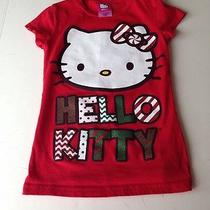 Girls Hello Kitty Christmas Holiday Shirt Sz 6/6x Photo