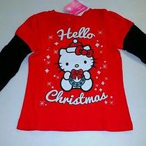 Girls Hello Kitty Christmas Long Sleeves Shirt  Cute Size 3t (B2 ) Photo