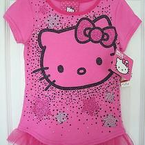 Girls Hello Kitty Pink T-Shirt Top Stars Size 4 Nwt Photo