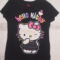 Girls Hello Kitty Top Size 8 Black Cotton Blend Photo