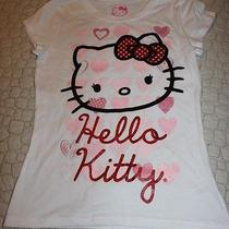 Girls Hello Kitty Tshirt - Glitter- Nwt Size S 6/6x Photo